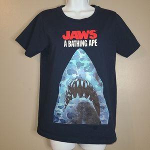 Bape x Jaws A Bathing Ape Navy Blue Tee, S